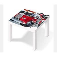 Möbelaufkleber für Ikea Lack Tisch 55x55cm Kinderzimmer Feuerwehr Feuerwehrauto Kat2 Boy LT1 Aufkleber Klebefolie Möbelfolie Folie Ohne Möbel 25W2662