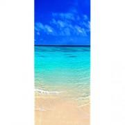 Bilderdepot24 Türtapete selbstklebend   Sandstrand Bahamas   in 90x200 cm   einteilig Türaufkleber Türfolie Türposter   Wand-deko Dekoration Wohnung   11253a