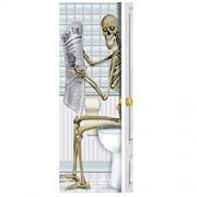 Sannysis Türposter Halloween Kreative 3D Türaufkleber Türfolie Türtapete-Dekofolie Selbstklebend Wasserdichte Aufkleber DIY Türbild Skull Zombie Ghost Lila Mond Door Stickers 77 x 200 cm Q