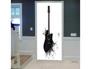 SMHCHA 3D Türaufkleber selbstklebend 3D Gitarre TürPoster Wasserdicht Fototapete Türfolie PVC Abnehmbar Fenster Dekoration Wandtattoo Tür Wohnzimmer Schlafzimmer Küche