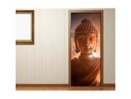 Türaufkleber Buddha Statur - Buddhismus Tür Bild Türposter Türfolie Druck Aufkleber 15A2325 Türgrösse:90cmx200cm
