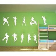 ALiQing Wandaufkleber Spielposter Musik Skaten Tanzen Wandsticker für Kinder Teenager Jungen Schlafzimmer Spielzimmer Wanddekoration weiß
