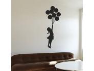 customwallsdesign Banksy Floating Ballon Girl Wandaufkleber