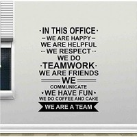 In This Office Wall Decal Poster We Are Team Quote Work Inspirational Teamwork Vinyl Sticker Motivational Office Decor 42X59Cm