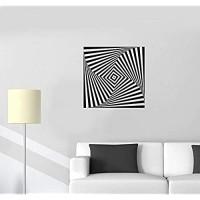Optische Täuschung Wandtattoo Optische Täuschung Form Geometrische Vinyl Aufkleber Home Schlafzimmer Wohnzimmer Mode Dekoration 57X57Cm