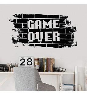 Spiel Über Wandtattoo Bricks Gaming Teens Jungen Schlafzimmer Spielzimmer Videospiele Home Decor Tür Fenster Vinyl Aufkleber Wandbild 42X81 Cm