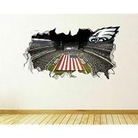 Wandtattoo 3D Philadelphia Eagles Removable Vinyl Decals Wohnzimmer Schlafzimmer Küche Art Dekore 50x70 cm/19.7x27.6 Zoll.