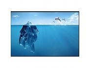 Fototapete 3D Effekt Blauer Antarktischer Eisberg-Seedelphin Vliestapete Wand Tapete Wandbilder Tapeten Moderne Wanddeko 200x140cm