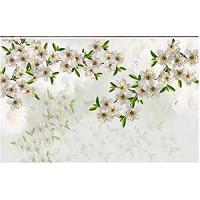 Fototapete 3D Effekt Weiße Romantische Aquarellblumenkunstnatur Vliestapete Wand Tapete Wandbilder Tapeten Moderne Wanddeko 430x300cm