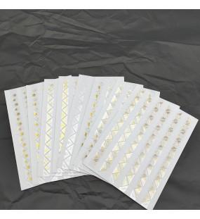 Neue 8 Blätter Papier Ecke Aufkleber PVC Transparent Gold Für Foto Alben Rahmen Dekoration Scrapbooking Album Aufkleber Zubehör Fotoalben