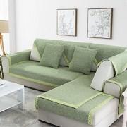 QY&LA Sofa möbel Protector für Haustiere Hund Baumwolle Anti-rutsch Schnitt Sofa werfen Abdeckung pad Ganze Saison Volltonfarbe Sofa Decken L-Form Couch-Abdeckung-C 90x240cm35x94inch