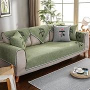 XJ&DD Sofabezug Staubdicht Sofabezug Reversible Quilt Baumwolle Und Leinen-G 110x160cm43x63inch