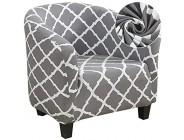 Cysincos Sesselschoner Sesselüberwurf Sesselhusse Sesselbezug Elastisch Stretch Husse für Cafe Stuhl Sessel
