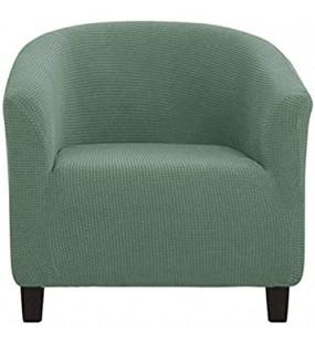 Sesselschoner Sesselüberwurf Sesselhusse Sesselbezug Jacquard Elastische Stretch Sofahusse Husse für Clubsessel Abwaschbar Möbelschutz für Wohnzimmer-Matcha grün