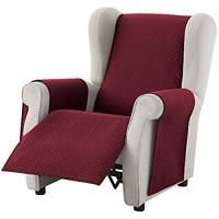 Textil-home Sesselschoner Relax Adele 1 Sitzer - Reversibel gepolsterter Sofaschutz. Farbe Rot