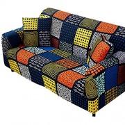 WESEEDOO Sessel überzug Sesselüberwurf Zerkleinert samt Sofa abdeckungen Hund Sofa abdeckungen Magie Sofa abdeckungen Samt Sofa abdeckungen 90-140 orange