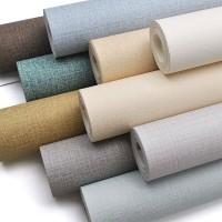 Selbst adhesive leinen textur tapete reines farbe selbst adhesive papier wohnzimmer home dekoration wand aufkleber rolle 10M Wandaufkleber