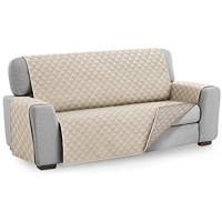 Textil-home Sesselschoner Sofaüberwurf MALU 4 Sitzer - Reversibel gepolsterter Sofaschutz. Farbe Elfenbein