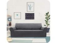 UMI. by Sofaüberzug Jacquard Sofabezug Stretch Couchüberwurf Sofahusse Sofaüberwurf Wohnzimmer 3-Sitzer Grau