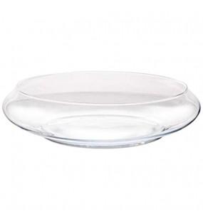 CRISTALICA Glasschale XXL Dekoschale Glas Rund Transparent 40cm