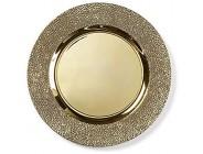 Inge-glas Dekoteller Silber Gold rot gestanzter Rand 33cm Kunststoff Dekoschale wählbar Dekoteller Goldstruktur