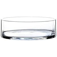 INNA-Glas Zylindrische Glasschale Vera klar 8cm Ø 25cm - Obstschale - Knabberschale
