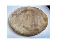 Teller Dekoschale Schale rund aus Mangoholz braun Deko Ablage Holz ca. 30 cm