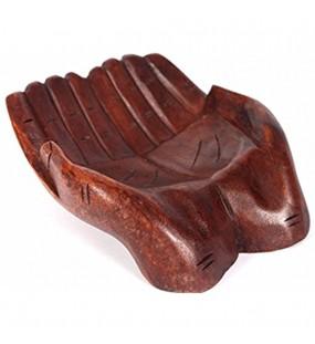 Wohnkult Holzschale Hand Schale 25 cm Obstschale in Form Einer Hand Suar Holz