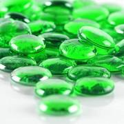 CYS EXCEL XL 3 2 cm grünes Glas flache Edelstein Vase Füllstoffe 2 3 kg ca. 175 Stück mehrere Farben zur Auswahl Marmorperlen Aquarium Steine Blumenbedarf Steine Dekorative Mosaik Edelstein Kiesel
