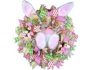 Thermohealth Ostern Kranz mit Hase Hintern Anhänger Osterkranz Osterei Dekorative Künstliche Blumen Kränze Girlande Wandkranz D Einheitsgröße