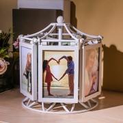 Haushalt Riesenrad Musik Box Windmühle 5 zoll Foto Rahmen, Rotierenden Kombination Tabelle Ort kinder Foto Hochzeit Geschenk Rahmen