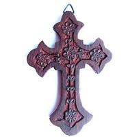 Iconsgr Handgefertigtes heiliges orthodoxes religiöses Holz geschnitztes Wandkreuz Christus Kruzifix Athos 64