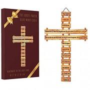 Katholisches Kruzifix zum Aufhängen aus Olivenholz mit dem Gebetskreuz aus dem Heiligen Land Bethlehem Israel mit Echtheitszertifikat 38 1 cm