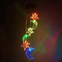 Moon & Star LED Solar Windspiel Nigh Licht Farben verändern