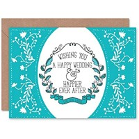Wee Blue Coo Card Greeting Wedding Marriage Happy Ever After