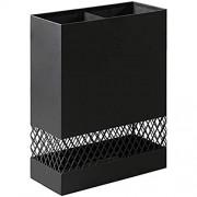 QI-shanping Schwarz/Weiß Metall rechteckig Schirmständer Rack-Innen for Canes Spazierstöcke Regenschirm Halter for Home Office Modernen Dekor Color : Black