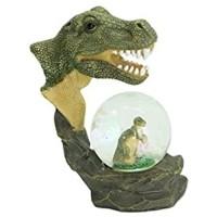 ES Glitzerkugel T Rex Dinosaurier Schneekugel Tier Tiere Dino Schneekugeln Tyrannosaurus