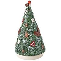 Villeroy & Boch - Nostalgic Melody Baum Tannenbaumfigur mit Drehfunktion und Spieluhr Porzellan bunt 9 x 9 x 17 cm