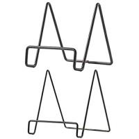 F Fityle 2pcs Telleraufsteller Metall Tellerständer Tellerhalter Bilderaufsteller Aufsteller Teller Tischdeko Schwarz