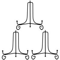 Racks Eisen 10-Zoll-Platte Stand-Halter-Foto-Rahmen-Ständer Staffelei Display Stand - Schwarz