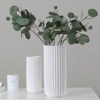 2021 neue Ankunft Matte Weiß Keramik Vasen Hohe Qualität Nordic Stil Desktop Eingerichtet Blume Topf Hochzeit & Home Dekoration 35 Vasen