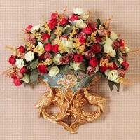 Europäische Harz Wand Hängen Vase Simulation Blume Anordnung Anhänger Hause Wohnzimmer TV Sofa Hintergrund Wand Dekoration Handwerk Vasen