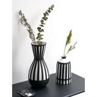 Hand Gemalt Gestreiften Vase Steingut Vase Hause Trend Dekoration Handwerk Vasen