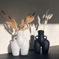 Licht luxus Dehua Keramik Vase hause dekoration ornament Hotel handwerk kunst weiblichen körper geschenk Vasen