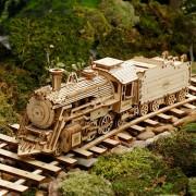 3D Holz Puzzle Zug Modell DIY Holz Zug Spielzeug Mechanische zug modell kit Montage Modell Zu Hause Dekoration Handwerk Figuren & Miniaturen