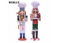 MYBLUE 35cm Europa Vintage Chef Statue Nussknacker Skulptur Figurine Weihnachten Puppe Ornamente Hause Raum Dekoration Zubehör Figuren & Miniaturen