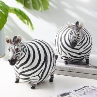 Nordic Ins Fett Zebra Harz Tier Figuren Ornamente Tier Modell Schreibtisch Dekor Hause Dekoration Zubehör Moderne Zimmer Dekoration Figuren & Miniaturen