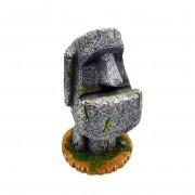 Sandstein Ostern Insel Moai Stift Bleistift Halter Stift Container Lagerung Halter Geschnitzte Skulptur Home Office Desktop Decor Figurine Figuren & Miniaturen