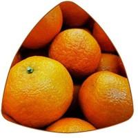 Dreieckige Untersetzer für Getränke Orangen Leder Tassen Tassen Untersetzer Matte zum Schutz von Möbeln hitzebeständig Küche Bar Dekoration 6 Stück