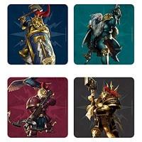Echte Warhammer Age of Sigmar Stormcast Set von 4 Untersetzer Getränke Mat